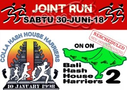 RESCHEDULED Join Us Bali Hash 2 Joint Run with Colla Hash Joint Run JUNE 30