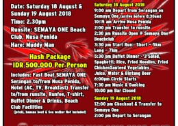 Bali Hash House Harriers 2 2018 Hari Merdeka Run & HM Muddy Man Birthday Run