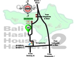 Bali Hash 2 Next Run Map Run #1389 Tunon Ubud 8-Sep-18