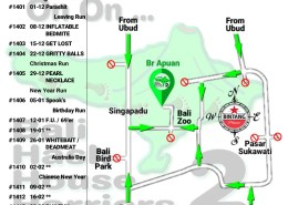 Bali Hash 2 Next Run Map #1400 Br Apuan Singapadu 24-Nov-18