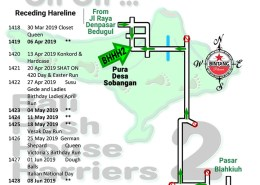 Bali Hash 2 Next Run Map #1417 Pura Desa Sobangan - Update