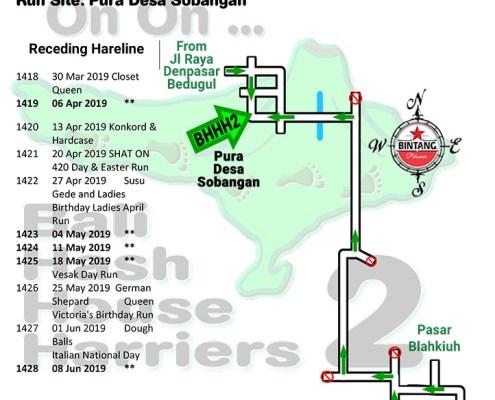 Bali Hash 2 Next Run Map #1417 Pura Desa Sobangan - Update