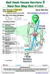 Bali Hash 2 Next Run Map #1424 Pura Dalam Bongkasa