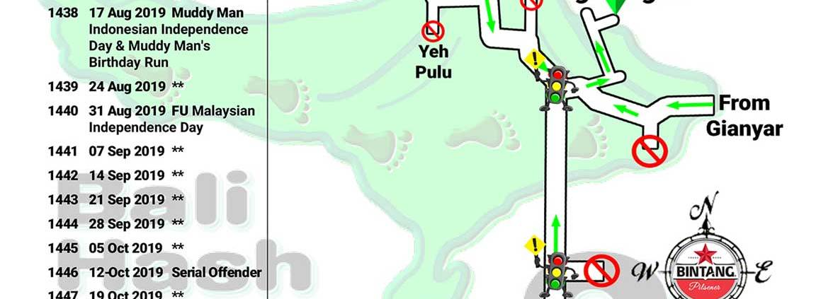 Bali Hash 2 Next Run Map #1435 Candi Tebing Tegallingah
