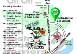 Bali Hash 2 Next Run Map #1439 Hidden Canyon Beji Guwang