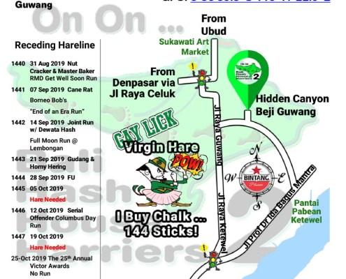 Bali Hash 2 Next Run Map #1439 Hidden Canyon Beji Guwang