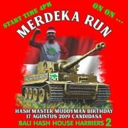 Bali Hash 2 Run #1438 Hari Merdeka Run Candi Dasa