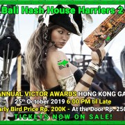25th Annual Victor Awards 25th of October 2019 Bali Hash House Harriers 2
