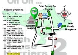 Bali Hash 2 Next Run Map #1451 Wantilan Sangeh