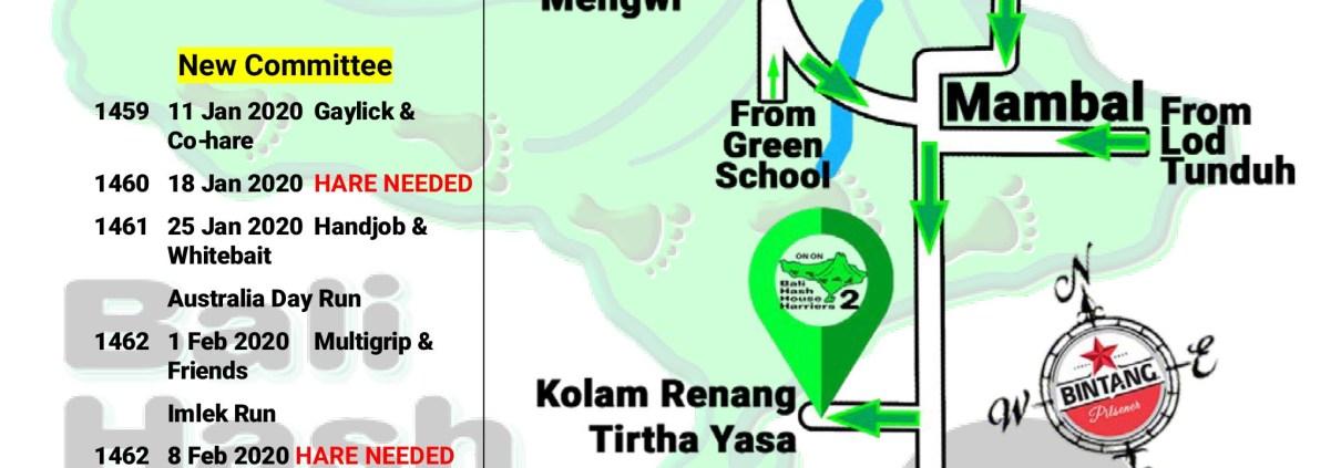 Bali Hash 2 Next Run Map #1457 Mambal Pool