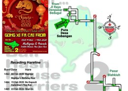 Bali Hash 2 Next Run Map #1462 Pura Desa Sobangan CNY Run