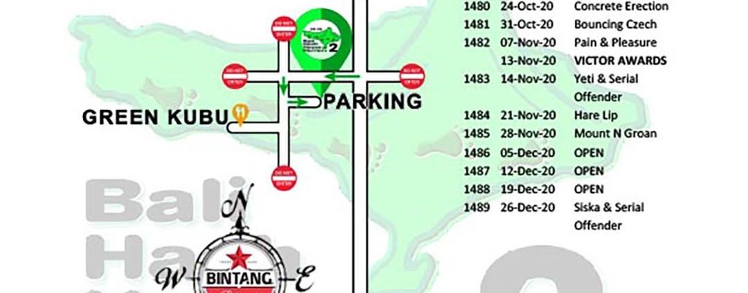Bali Hash 2 Next Run Map #1476 Green Kubu