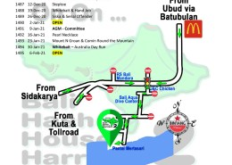 Bali Hash 2 Next Run Map #1484 Pantai Mertasari Sanur