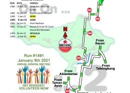 Bali Hash 2 Next Run Map #1487 Desa Rafting Bongkasa
