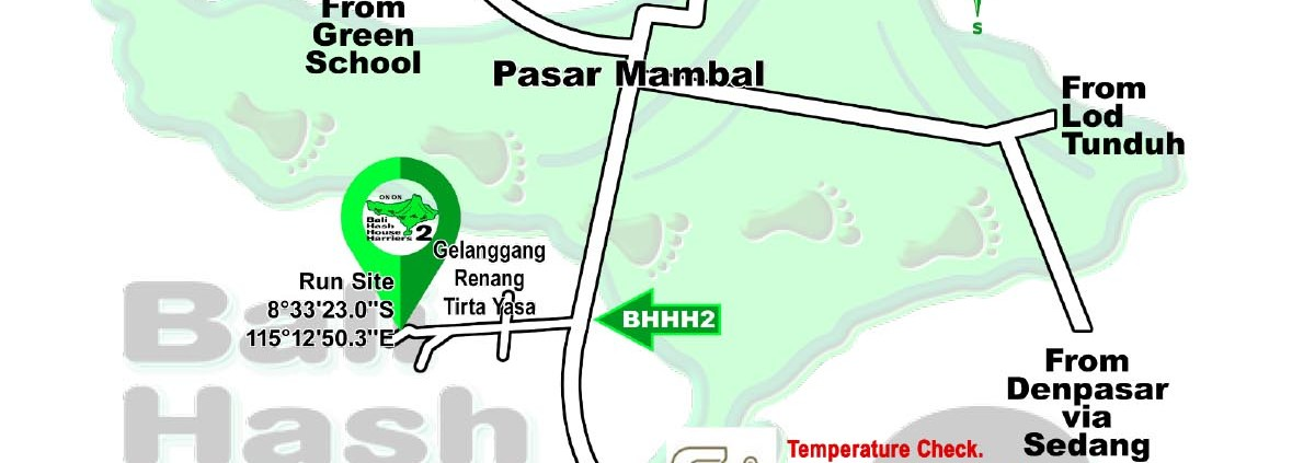 BHHH2 Next Run Map #1489 Mambal Swimming Pool 3-Apr-21