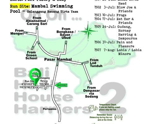 Bali Hash 2 Next Run Map #1499 Mambal Swimming Pool