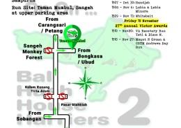 Bali Hash 2 Next Run Map #1505 Taman Mumbul Sangeh Saturday 16-Oct-2021