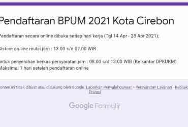 http://bit.ly/BPUMCirkot2021 Daftar BPUM Tahap 3 Kota Cirebon 2021
