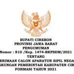 Download Formasi CPNS 2021 Kab. Cirebon, PPPK Guru dan Non Guru di SSCN.BKD.GO.ID