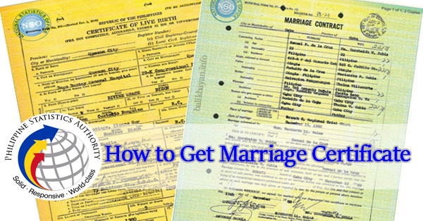 how to get your marriage certificate philippines