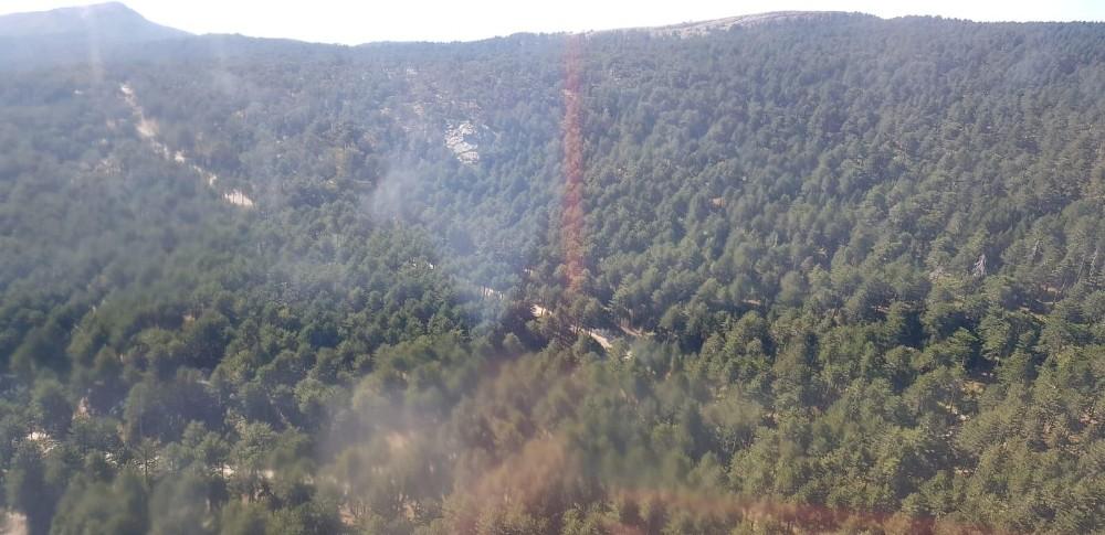 Askerlerin dikkati Kazdağları'nı yanmaktan kurtardı
