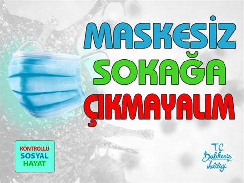 Balıkesir'de maske takmayan 46 kişiye ceza uygulandı