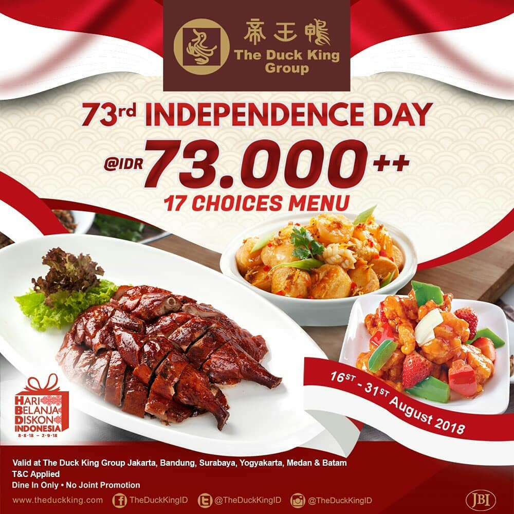 Promo Diskon Kemerdekaan The Duck King Group
