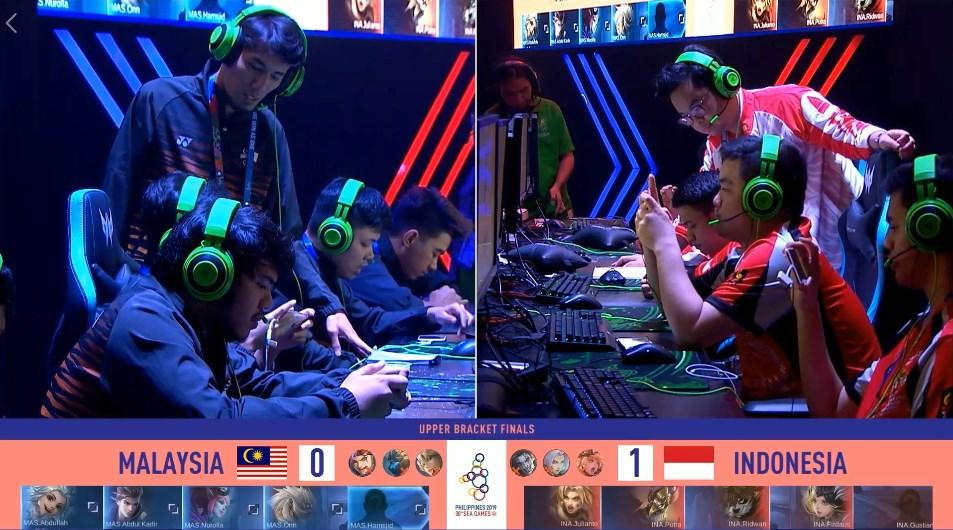 Indonesia melawan Malaysia Esports Mobile Legends Sea Games 2019 semi finals