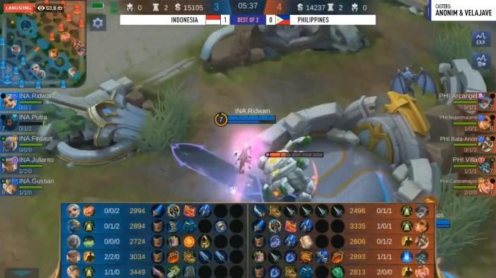 mobile legends sea games filipina vs Indonesia