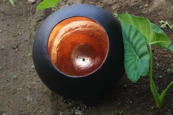 Original Sort Oxideret Balilampe Ø25cm
