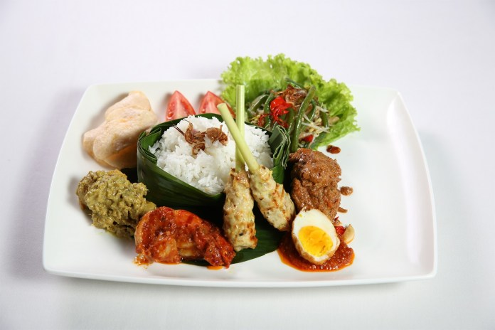 Beach Club Restaurant's Nasi Campur.