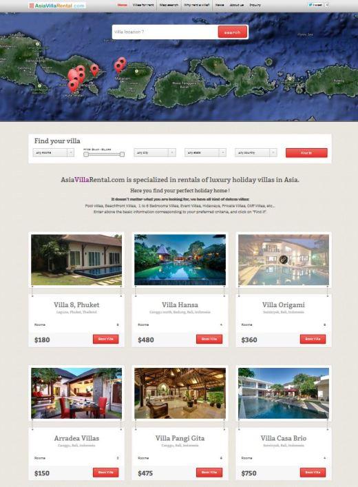 Asia Villa Rental Deluxe Bali Villas for Rent