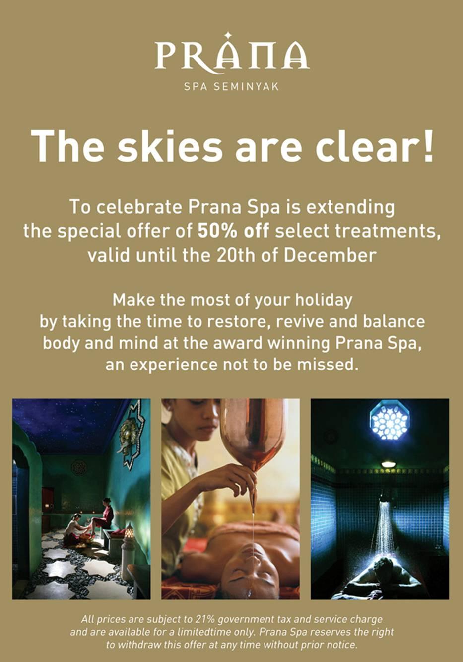 Prana Spa Special Offer