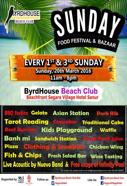 Sunday Food Festival – ByrdHouse Bali