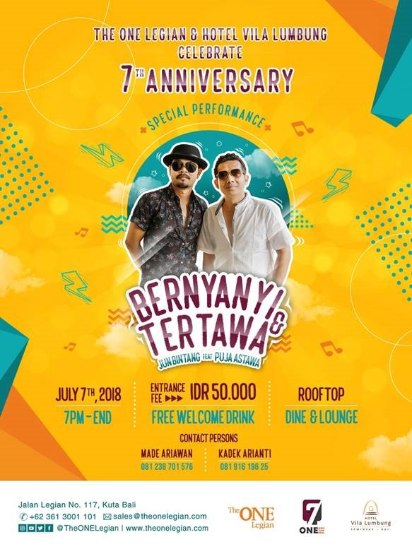 7th Anniversary The ONE Legian & Hotel Vila Lumbung
