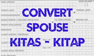 convert indonesia spouse kitas to kitap