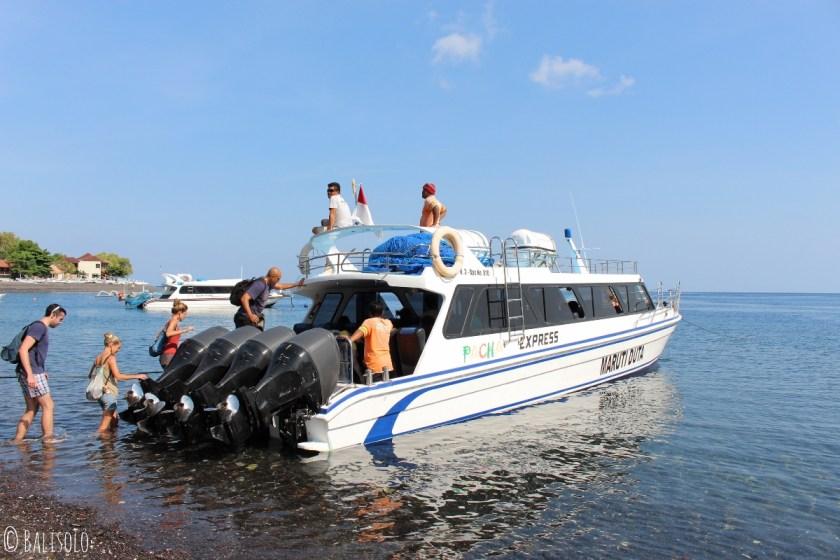 Le Pacha Express pour se rendre aux îles Gili © Balisolo