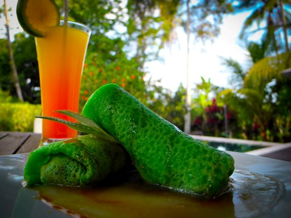 Dadar gulung - dessert indonésien