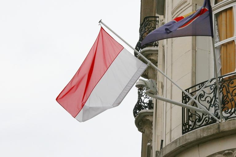 Drapeau indonésien à Paris
