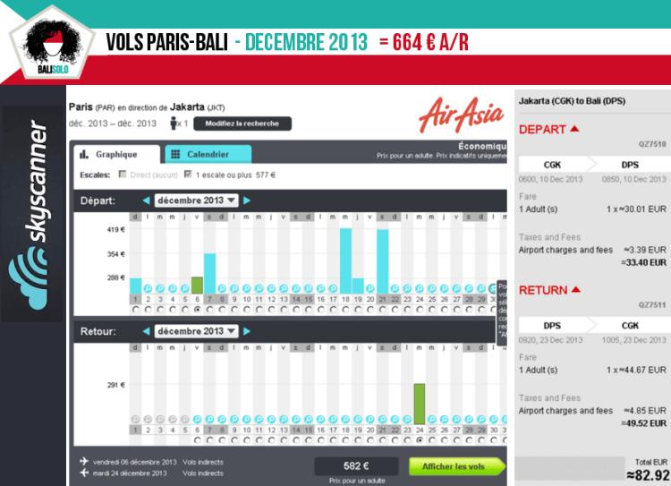 Vols Paris-Bali 12/2013 vol paris bali prix