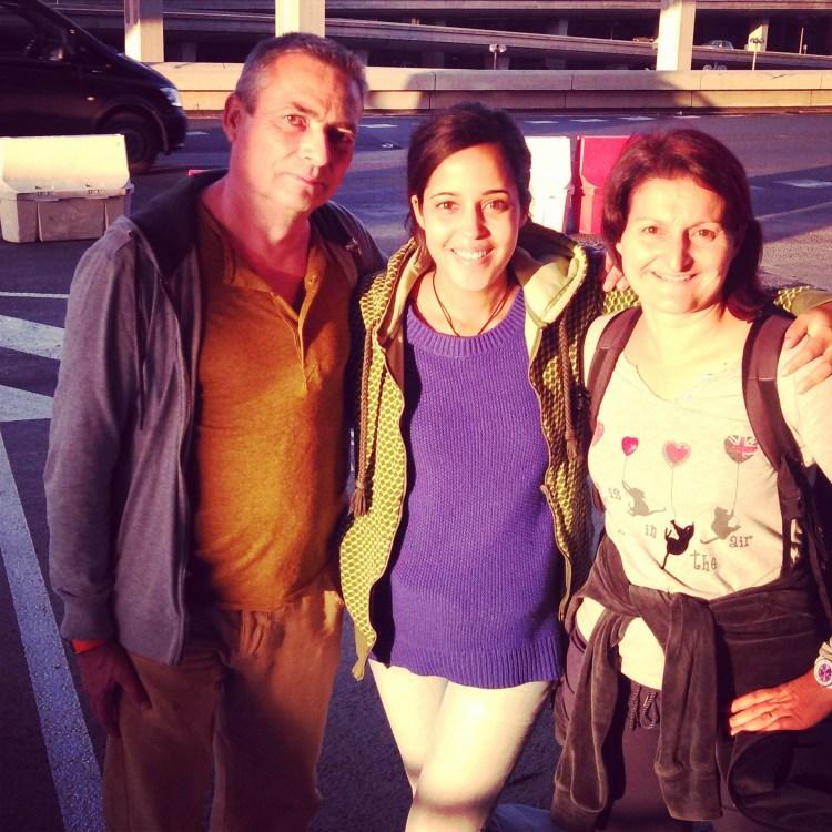 Thierry, Jenni & Cécile à Roissy CDG - Départ pour l'Indonésie
