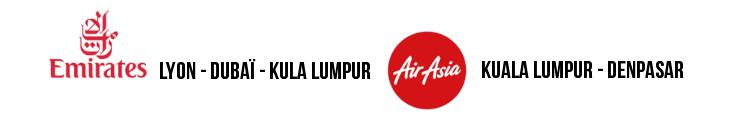 Lyon Bali avec Emirates et Air Asia