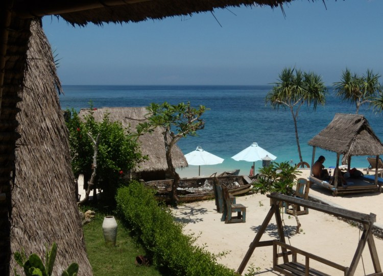 Lembongan Dream Beach depuis notre hut  Bali couple Interview Balisolo