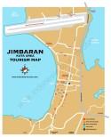 Carte de la ville de Jimbaran à Bali en Indonésie