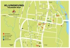 Carte du village de Klunkung à Bali en Indonésie
