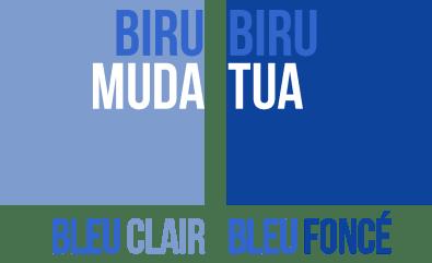 BIRU TUA BIRU MUDA - Les couleurs en indonésien, Bahasa Indonesia - Balisolo