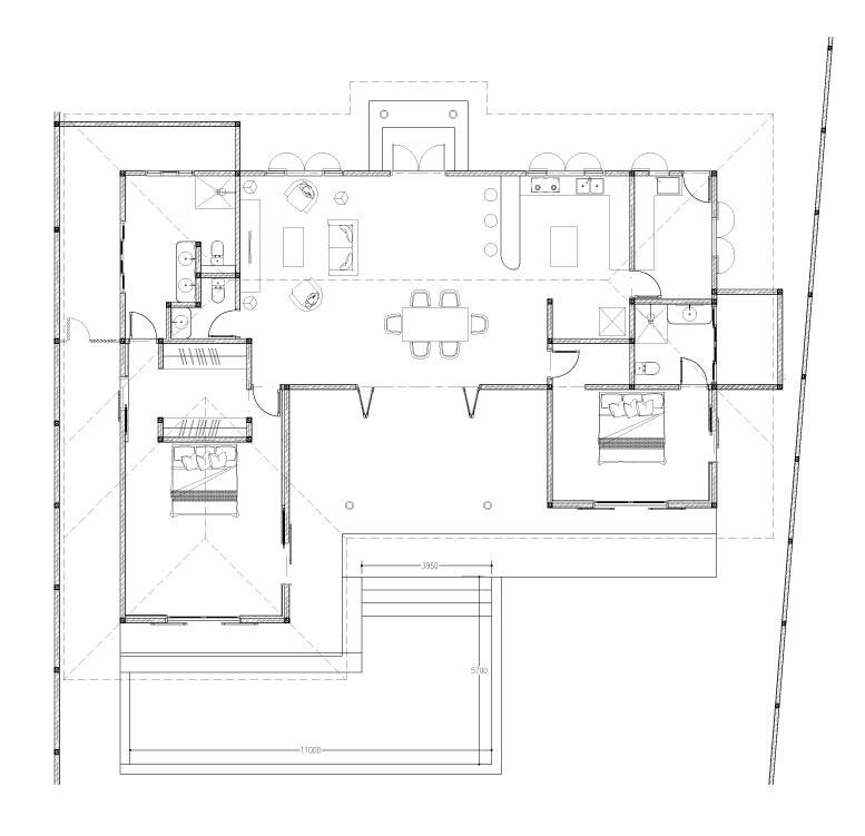 Plan de la Villa Teva à Kerobokan - Balisolo