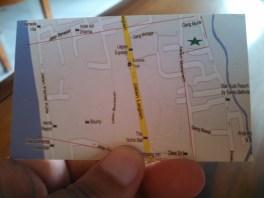 Le plan du Warung Coco, pres de la Jalan Legian