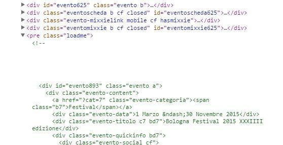 Screenshot del sorgente di verybello.it