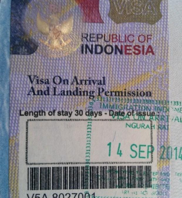 Indonesia Visa regulations